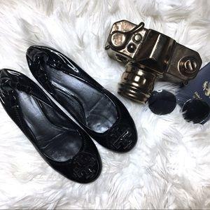 TORY BURCH Reva Classic Black Leather Flats